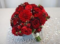 red dahlia bouquet - Google Search