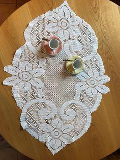 Filet for two - doily - centro tavola di crochetaujour su Etsy