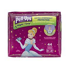 Huggies Pull-Ups Girls' NightTime Training Pants Jumbo Pack - Size Pull Ups Training Pants, Toddler Training Pants, Potty Training Pants, Pull Ups Diapers, Huggies Pull Ups, Disney Designs, Baby Supplies, Girls Pants, Diy Home