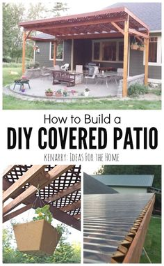 How to Build a DIY Covered Patio 2019 Beautiful idea for your backyard! How to build a DIY covered patio using lattice and wood to create a little shade from the sun. The post How to Build a DIY Covered Patio 2019 appeared first on Backyard Diy. Pergola Patio, Diy Patio, Backyard Patio, Backyard Landscaping, Backyard Shade, Patio Shade, Backyard Covered Patios, Budget Patio, Covered Pergola
