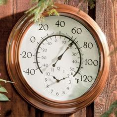 The Gadgeteeru0027s Julie Strietelmeier Reviewed Our 18 Inch Atomic Metal  Copper Outdoor Clock With Thermometer. In The Process, She Solved A  Decoratinu2026