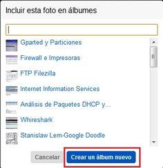 crear album nuevo Flickr