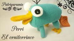 DIY Perri el ornitorrinco amigurumi en ganchillo - Crochet