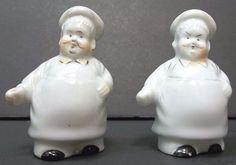 Chef Salt Pepper Shakers Chubby Fat Sunshine Advertising Vtg Porcelain Japan | eBay