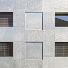 Image 8 of 12 from gallery of Chilestieg Rümlang / Baumschlager Eberle Architekten. Photograph by Archphoto Concrete Facade, Stone Facade, Design Thinking Process, Brick And Stone, Facade Design, Built Environment, Cladding, Architecture Details, Exterior