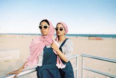 #modestfashion NYC Coney Island Brooklyn photographer Syed Yaqeen shot on #Kodak #Portra 160. #Hijab by @coveredinconfidence