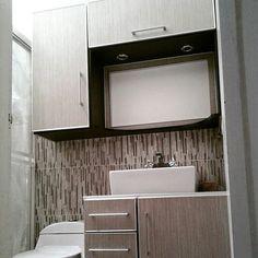 Mueble para el ba o hechos en melamina color wengue - Tiradores muebles bano ...