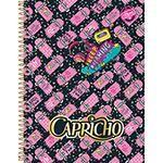 Caderno Universitário Capa Dura Capricho 10 Matérias 200 Folhas Skate Rosa - Tilibra