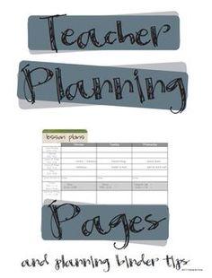 Teacher Planning Pages and Binder Tips. Kindergarten teacher, but amazing organizational ideas . even for high school. Teacher Planning Pages, Teacher Plan Books, Teacher Sites, Teacher Education, Teacher Tools, Teacher Resources, Teacher Binder, Teacher Hacks, Teacher Stuff