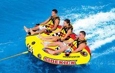 Sportsstuff Sidekick 3 Rider Inflatable Water Tube Boat 53-2173