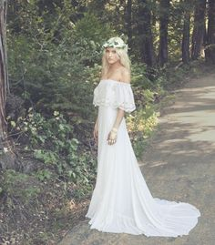 Bohemian Bridal Gowns / Daughters of Simone. View collection on The LANE
