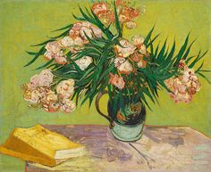 Vincent van Gogh (Dutch, Post-Impressionist, 1853-1890): Oleanders, 1888. Oil on canvas, 23-3/4 x 29 inches (60.3 x 73.7 cm).