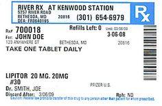DIY Project Pill Bottle Party Favors Pinterest Label Templates - Pill bottle label template