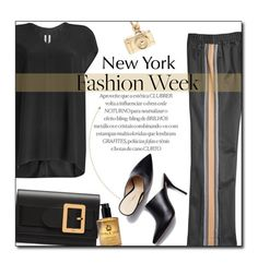 """""""NYFW 2018"""" by sherieme ❤ liked on Polyvore featuring Marc Jacobs, Rick Owens, Bally and Carnill & Company"""