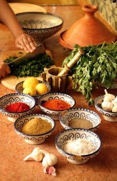Moroccan Recipes The View From Fez Cookbook Gewürzreiche Küche Moroccan Kitchen, Moroccan Dishes, Moroccan Spices, Moroccan Recipes, Tagine, Eastern Cuisine, Comida Latina, Middle Eastern Recipes, Arabic Food