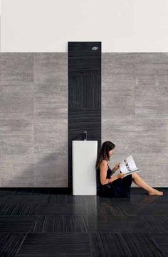 #Provenza #Re-Use Marble Nero Tungsteno Naturale 60x60 cm 604E9R   #Porcelain stoneware #Marble #60x60   on #bathroom39.com at 35 Euro/sqm   #tiles #ceramic #floor #bathroom #kitchen #outdoor