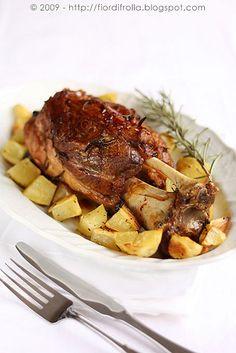 Pork shank marinated baked - Stinco di maiale marinato al forno #recipe #juliesoissons