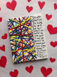 Rainbow Rowell- Eleanor and Park Quote 'Love Note' Sign on Etsy, $18.00
