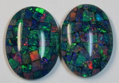 33.60 cts AAA + MOSAIC PAIR TOP CRYSTAL OPAL USE TO MAKE THESE MOSAICS   opal chips, opal chips , mosaic  fire opal ,