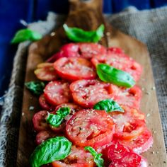Tomato Salad, the way we make it in Southern Italy - Tasty tomatoes, oregano, basil, olive oil and salt is all you need!
