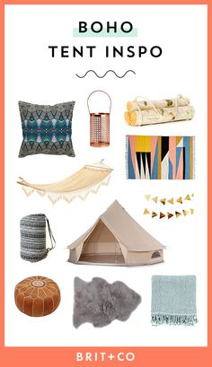 You can decorate your tent during your camping or glamping trips over the summer to have a boho feel with the help of these inspo-worthy decor items.