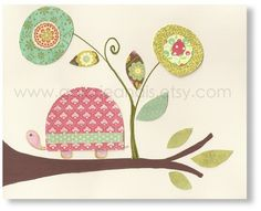 Cute turtle print