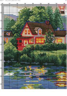 Zz Cross Stitch House, Cross Stitch Art, Simple Cross Stitch, Cross Stitching, Balloon Glow, Balloons, Pattern Sketch, Disney Cross Stitch Patterns, Air Ballon