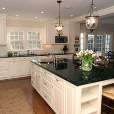Classic White Paint - traditional kitchen almost just like OUR kitchen, Not but kindA!