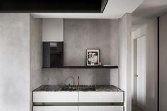 View the full picture gallery of H Ardooie Kitchen Shelves, Kitchen Art, Kitchen Interior, Gray Interior, Open Shelving, Double Vanity, Interior Architecture, Mirror, Furniture