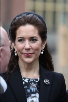 Princess Mary and Prince Frederik attended the memorial service of connection with 70th anniversary of the Denmark's liberation from Nazi German occupation @ Copehagen Cathedral on May 5, 2015.