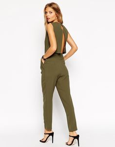 Image 1 ofASOS Jumpsuit with Open Back and Pleat Detail