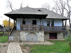 Village Museum in Bucharest - century household from Chiojdu Mic, Buzău County, Romania Rural House, Bucharest Romania, Classic House, Traditional House, Design Case, Old Houses, House Plans, Minimalism, House Design