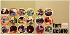 Scrapbook layout for 18 photos