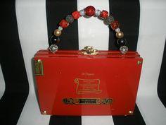 Red Fuente Cigar Box Purse Cigar Box Handbag with Heart and Cigar Box Purse, Cigar Boxes, Cigar Box Crafts, Hermes Kelly, Cigars, Cuba, Handbags, Purses, Heart