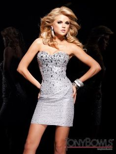 Tony Bowls Shorts Dress TS11380 at Prom Dress Shop