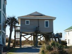 Holden Beach, NC - Pelican Flight East 228 OBE a 2 Bedroom Oceanfront Rental House in Holden Beach, part of the Brunswick Beaches of North Carolina. Includes Linens. Non-Smoking.