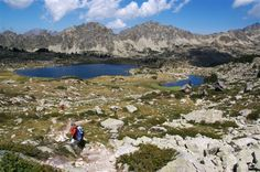 pyrenees view lakes on independent walking holiday in cerdgane France