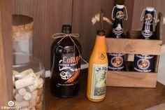 Decoração de formatura com garrafas de cerveja