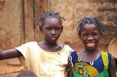 Young Blé girls, Burkina Faso