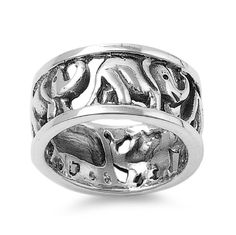925 Sterling Silver Consciousness of Destiny Chakra Elephant Ring