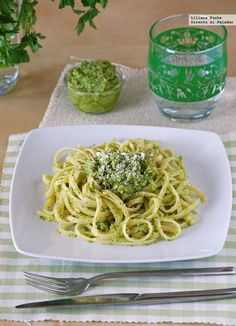 Directo al Paladar - Bavette con falso pesto de brócoli. Receta de pasta