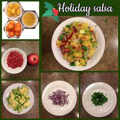 My most requested recipe during the holidays is my holiday fruit salsa.  It is delicious! Segment 5 lbs of oranges, seed one pomegranate, chop one avocado, sliver half of a red onion, and chop roughly 2T of fresh cilantro.  Combine and enjoy as a side or with whole grain tortillas.