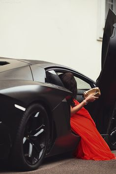 So Cool fashion red style black car