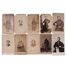 Album of Soldiers of the 28th Massachusetts, including 10 CDVs and two administrative documents.  Cartes include: Capt. Sam Moore; Capt. James McArdle; Capt. Benjamin Franklin Weeks; Surgeon Patrick A. O'Connell; 1st Lieut. James O'Keefe; Pvt. Jeremiah S. Murphy; Pvt. Samuel A. Chapman (listed as Champman); and three cartes of James Fleming  Documents: a List of Stores Received Sept. 15, 1863 for a hospital tent, and a Special Requisition, Jan. 1864, for clothing, blankets, axes, and a drum…