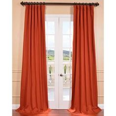 @Overstock - Bombay Rust Cotton Twill Curtain Panel - With a weighted hem to stay in place, the Bombay window panel blocks out light while adding luxurious style to your home decor. Crafted with 100-percent cotton, this elegant window panel features a decorative rust color to provide a classic look.  http://www.overstock.com/Home-Garden/Bombay-Rust-Cotton-Twill-Curtain-Panel/8896614/product.html?CID=214117 $69.29