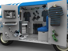 For the launch of skating gear, the pop-up retail solution from Adidas includes a converted bus, lorry and camper van that appears in fan-notified locations offering that get-it-first fan experience