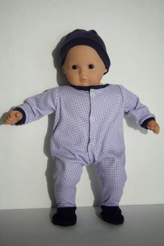 free tutorial and pattern on how to make a sleeper for Bitty Baby + Twin Doll