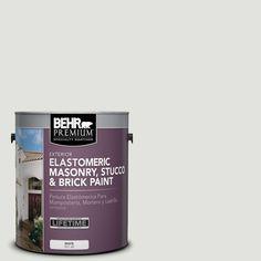 BEHR Premium 1 gal. #MS-55 Arctic Gray Elastomeric Masonry, Stucco and Brick Paint
