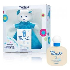 Mustela Coffret Musti Eau de Soin 100ml + Doudou Bleu