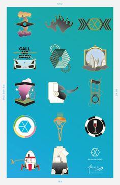 #EXO #엑소 #6YearsWithEXO Exo Kokobop, Exo Kai, Exo Songs, Exo Stickers, Kpop Logos, Exo Monster, 5 Years With Exo, Exo 2014, Future Wallpaper